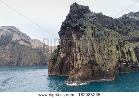 Icelandic Landscape With Coastal Rocks