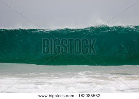 Giant wave hits the coast of Boa Vista, Cape Verdi