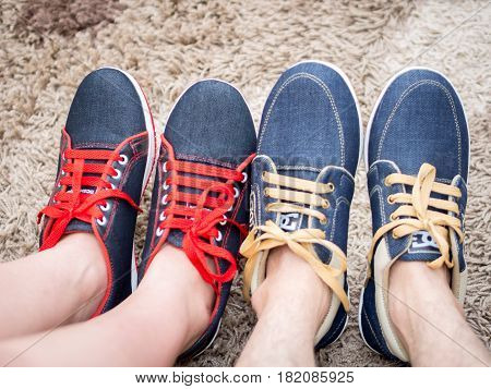 Shoes of Happy Couple . . .