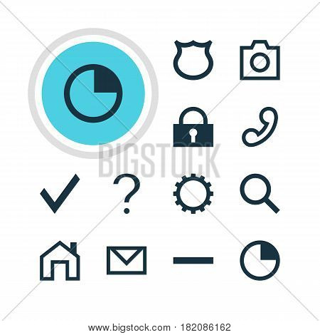 Vector Illustration Of 12 User Icons. Editable Pack Of Cogwheel, Check, Seek And Other Elements.