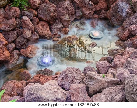Fog in The Rock Pond . .