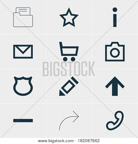 Vector Illustration Of 12 Member Icons. Editable Pack Of Info, Asterisk, Top And Other Elements.