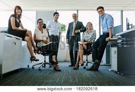 Portrait Of Successful Business People At Office