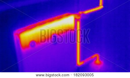 infrared photo of home heating system