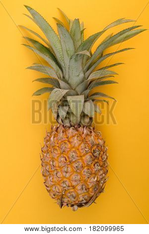 Thai Pineapple On A Yellow Background