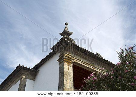 BERTIANDOS, PORTUGAL - OCTOBER 7, 2016: Detail of the Solar de Bertiandos a Portuguese baroque manor near Ponte de Lima Northern Portugal