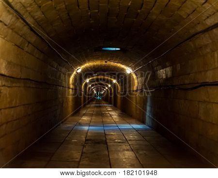 Dark corridor in the dungeon