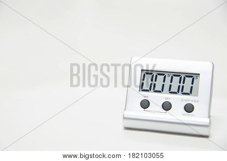 Timer laboratory testing equipment in white tone
