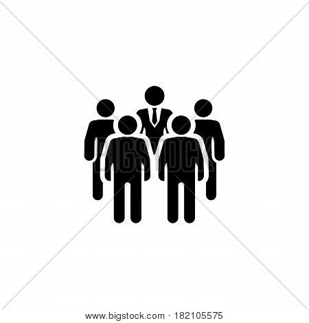 Meeting Icon. Flat Design. A group of people at the meeting.