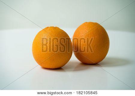 The organic orange isolated on white background