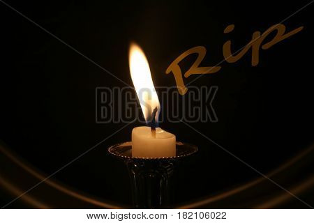 candle Rip memorial hope isolated black romance