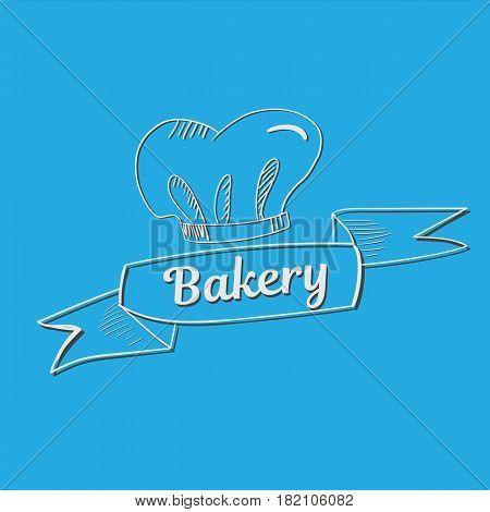 Hand Drawn Bakery Text With Chef S Hat