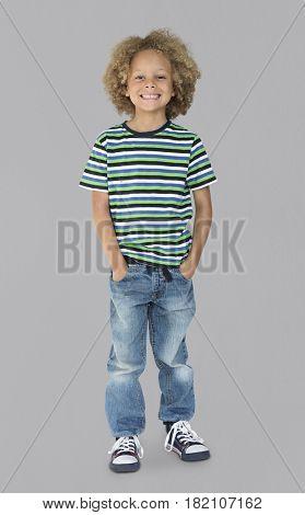 Little Kid Having Fun Portrait