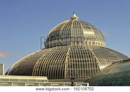 The Como Conservatory dome in Saint Paul, Minnesota