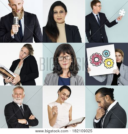 Studio People Collage Business Concept
