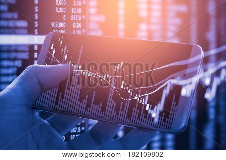 Business man on stock market financial. Stock market graph. Stock market indicator. Stock market financial. Stock market analysis. stock market financial statistic, business concept, business strategy, business content, business background