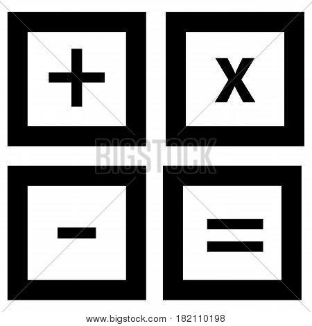 calculator icon Computer Icon Vector Education Mathematics