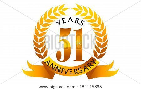 This Vector describe about 51 Years Ribbon Anniversary