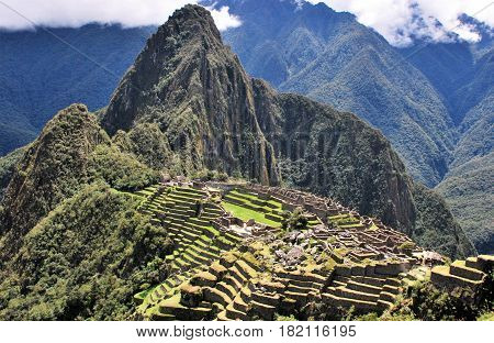 Machu Picchu in the Cusco region, Peru
