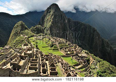 Machu Picchu in the Cusco region, Peru