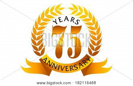 This Vector describe about 75 Years Ribbon Anniversary