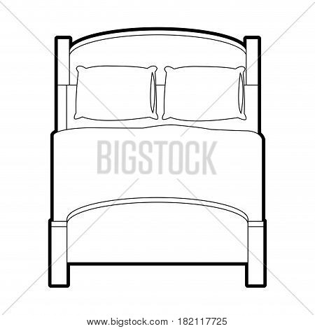 double bed topview icon image vector illustration design