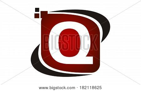This vector describe about Logo Technology Motion Synergy Initial Q