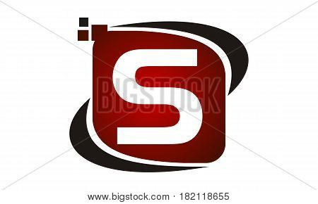 This vector describe about Logo Technology Motion Synergy Initial S