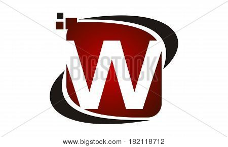 This vector describe about Logo Technology Motion Synergy Initial W