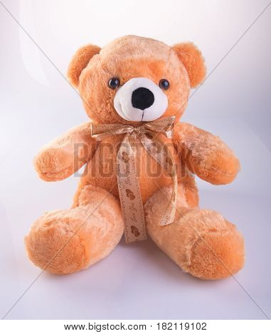 Toy Or Teddy Bear On The Background.