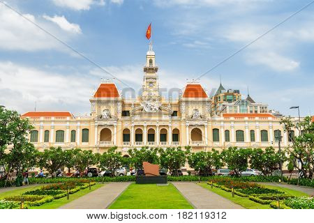 Facade Of The Ho Chi Minh City Hall, Vietnam