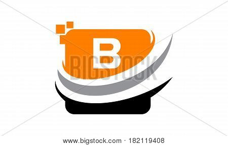 This vector describe about Logo Technology Motion Synergy Initial B