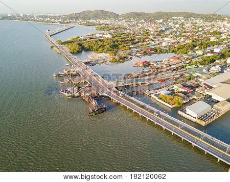 Coastal Bridge In Chonburi