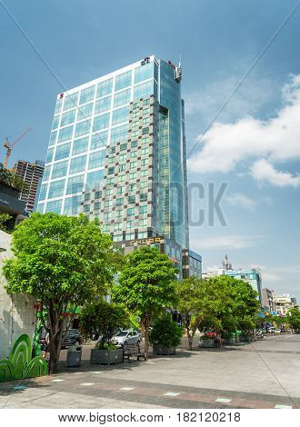 View Of Modern High-rise Building Of Ho Chi Minh City