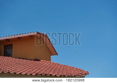 Red Color House Roofing