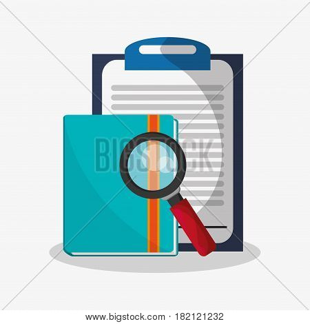 file examination related icons image vector illustration design