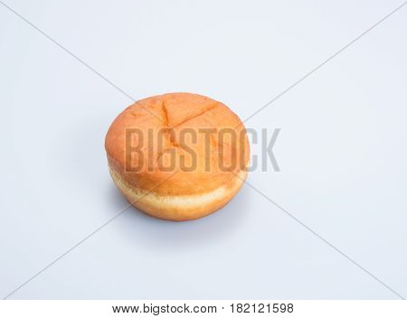 Burger Bun Or Hamburger Bun On Background.