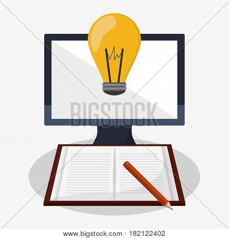 gadget and writing materials related icons image vector illustration design