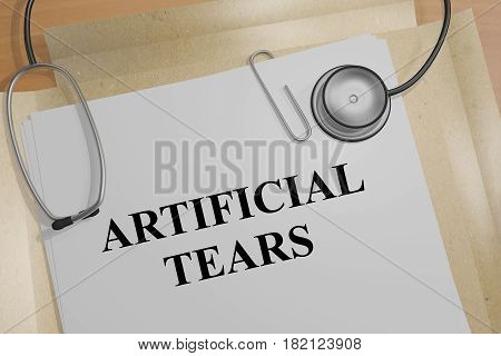 Artificial Tears - Medical Concept