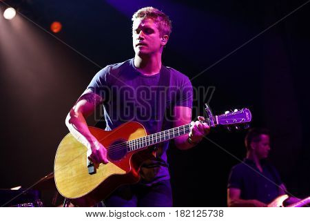 HUNTINGTON, NY-APR 15: Country music artist Levi Hummon performs onstage at the Paramount on April 15, 2017 in Huntington, New York.