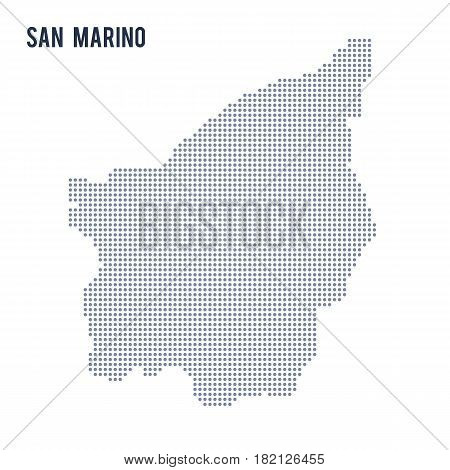 Vector dotted map of San Marino isolated on white background . Travel vector illustration