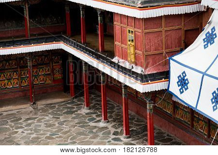 Tashilunpo Monastery as one of the six Gelug monasteries is the seat of successive Panchen Lamas. Founded by the First Dalai Lama in 1447