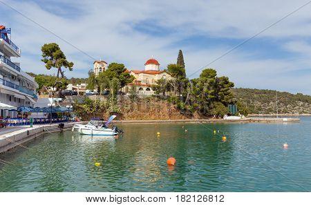 Palaia Epidaurus village waterfront in Peloponnese, Greece