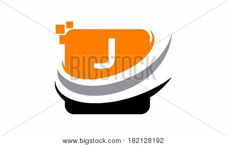 This vector describe about Logo Technology Motion Synergy Initial J