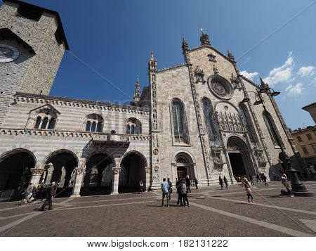 Cathedral Church And Broletto (town Hall) In Como