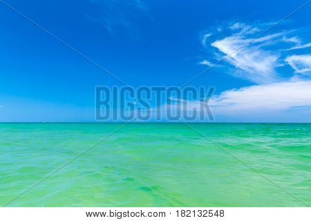 Beautiful beach.  Holiday and vacation concept. Tropical beach.