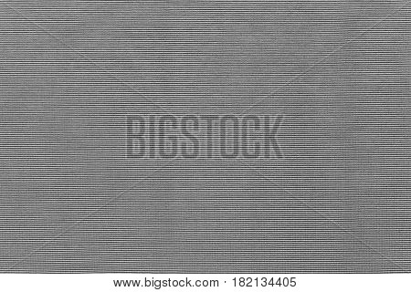 background and corrugated texture of cotton fabric of gray color