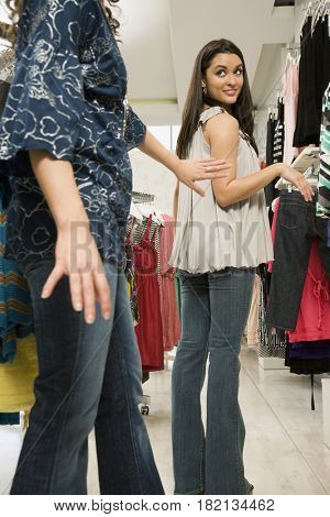Multi-ethnic women shopping