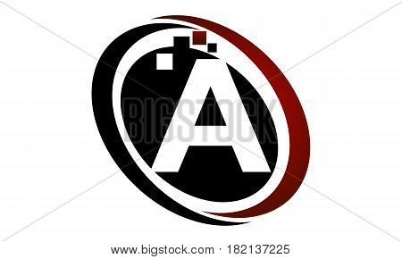 This vector describe about Technology Logo Motion Synergy Initial A