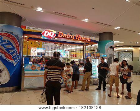 BANGKOK THAILAND - MARCH 30 : Dairy Queen icecream store at Central Chaengwattana department store on March 30 2017 in Bangkok Thailand.